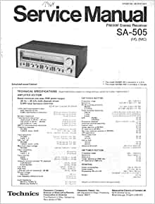 technics service manual bold part numbers