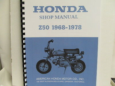 shop manual for a honda z50 k-1