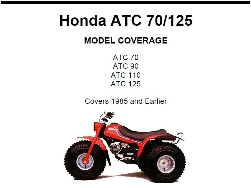 honda atc 110 repair manual