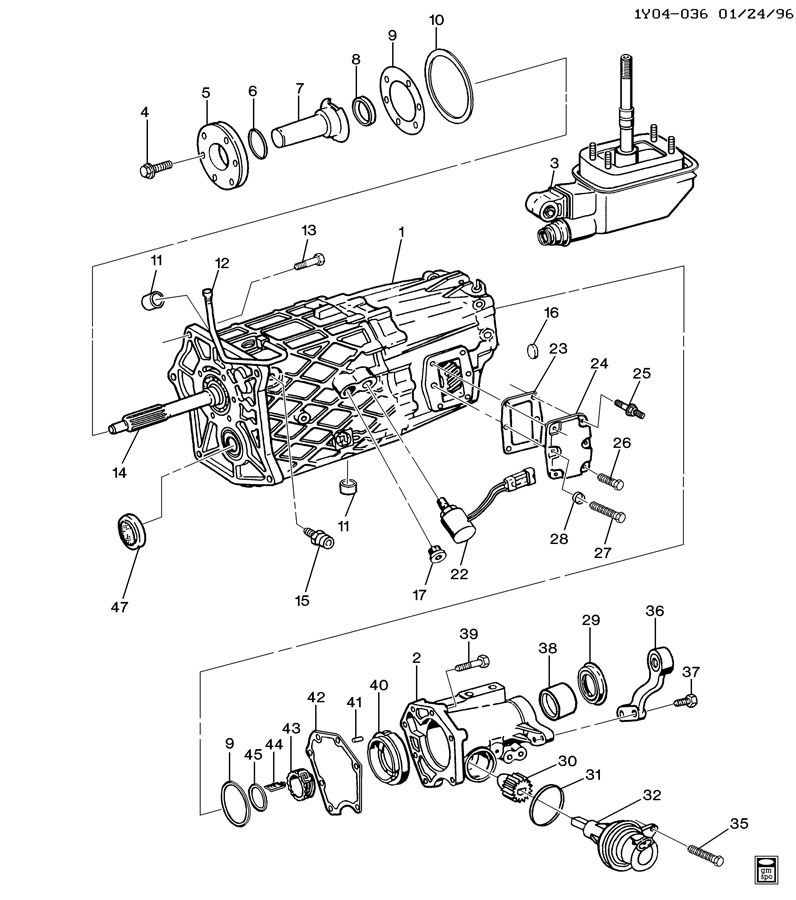 zf 6 speed manual transmission parts