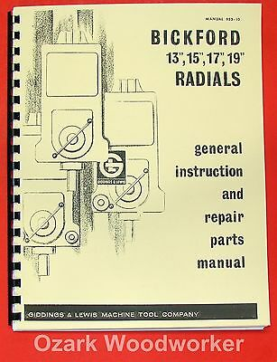american hole wizard radial drill parts manual