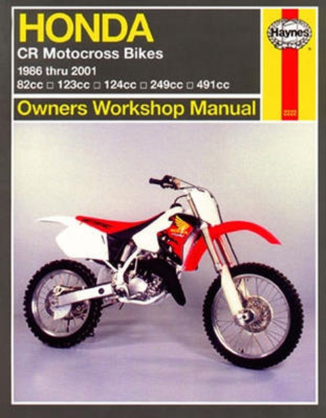 2001 honda cr125r owners manual