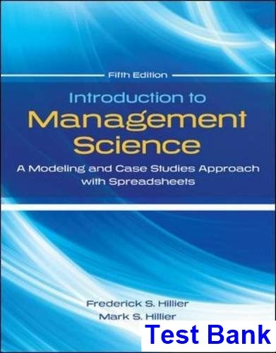 introduction to management science taylor 11th edition solutions manual pdf
