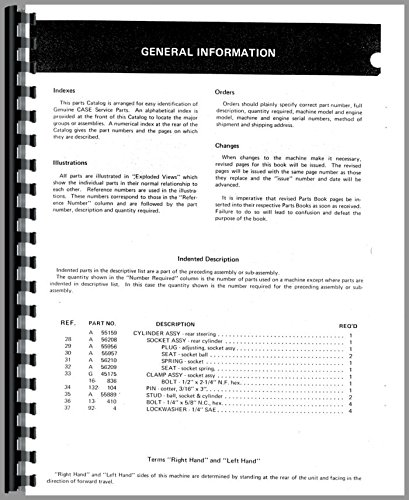parts manual for case 446 lawn tractor
