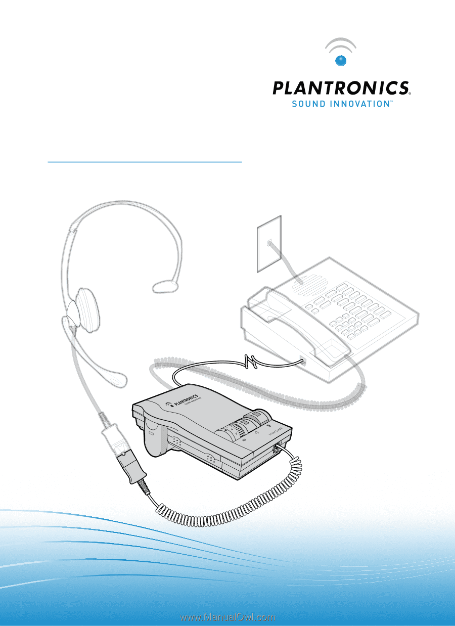 plantronics marque 2 owners manual